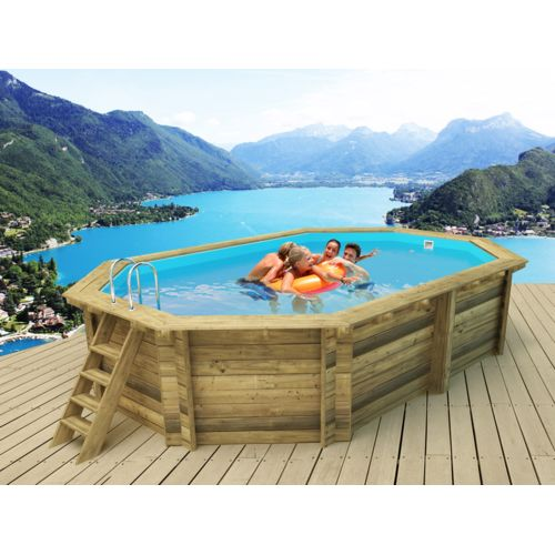 Piscine bois topiwall - Piscine hors sol carree 3x3 ...