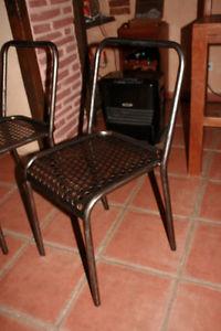 Chaise bistro style TOLIX 1950 BROCANTETENDANCE meuble industriel