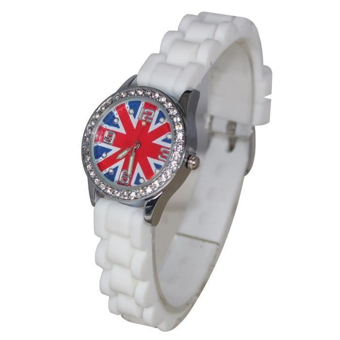 Montre Enfant Ado Fille London Drapeau Anglais Union Jack