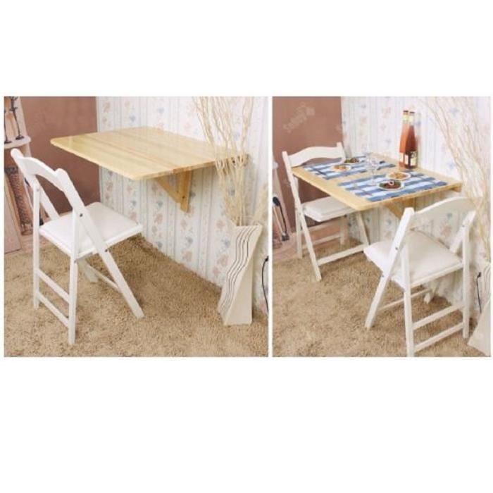 RABATTABLE PLIANTE EN BOIS 75X60 CM Achat / Vente table murale TABLE