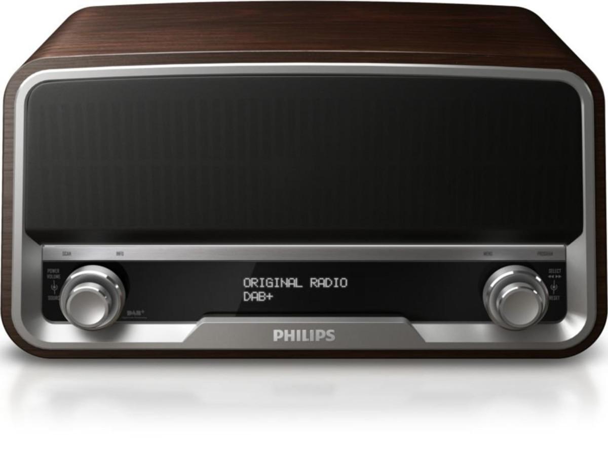 Philips vintage rétro OR7200/10 dab fm stéréo radio avec liaison