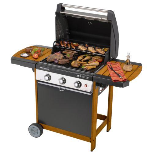 Campingaz Barbecue gaz 3 Brûleurs 11.4kW sur chariot Othello Woody 3L