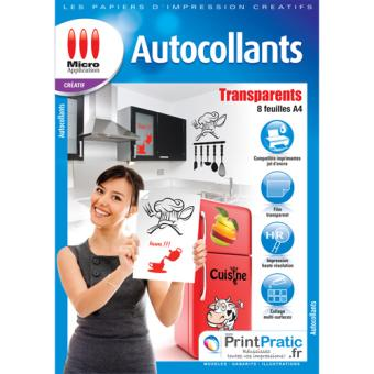 Micro Application transparent autocollant A4 5091 Papier imprimante