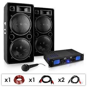 SET SONO DJ PA COMPLET AMPLI + PACK D ENCEINTES 3 VOIES