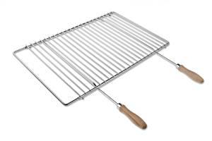 Grille de barbecue en inox, réglable en largeur, de 50 70x37cm