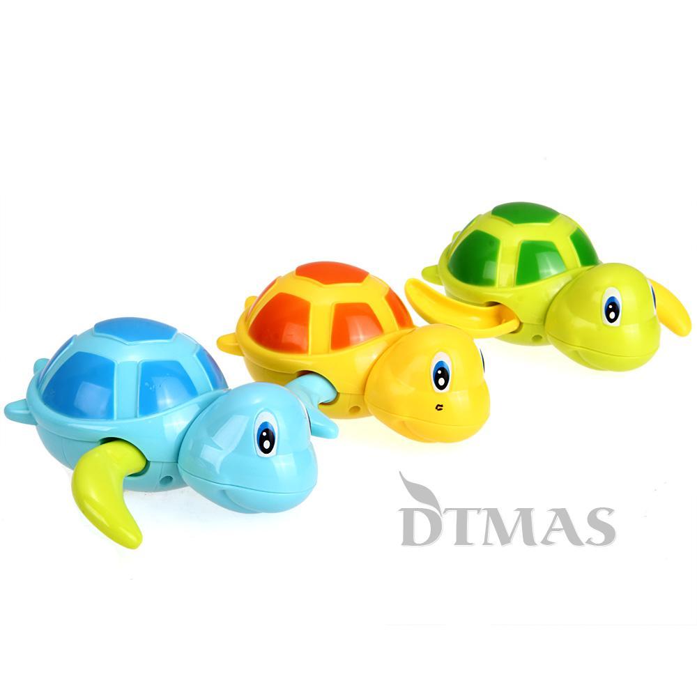 jouet de bain douche tortue nageur ressort aquatique jeu eau piscine