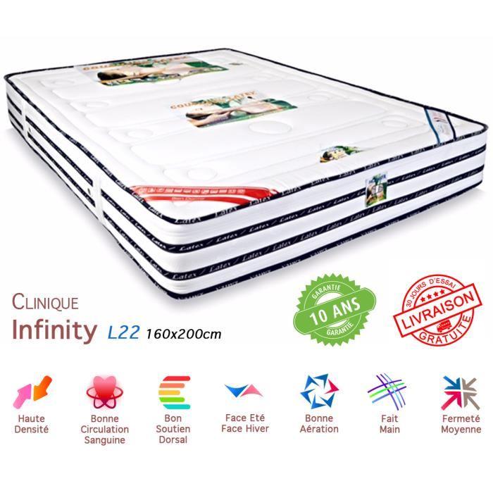 Matelas Latex 160×200 Infinity Luxe Achat / Vente matelas