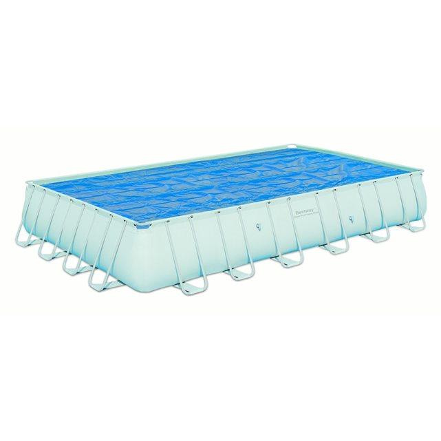 Bâche piscine isotherme 687×336 cm pour piscine rectangulaire frame