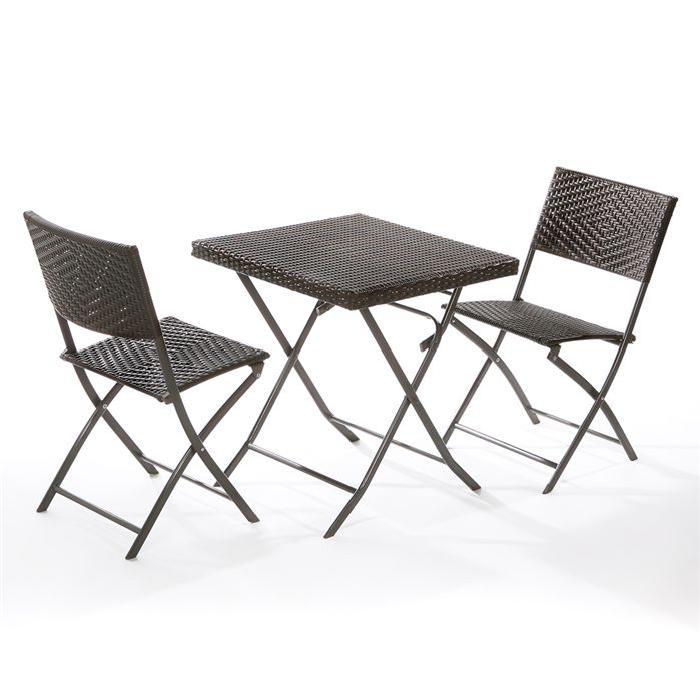 de jardin AMALFI Lot table et 2 chaises Soldes* d?été