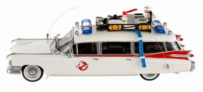 CADILLAC Ghostbusters ECTO 1 Ambulance SOS Fantôme en métal au 1/43