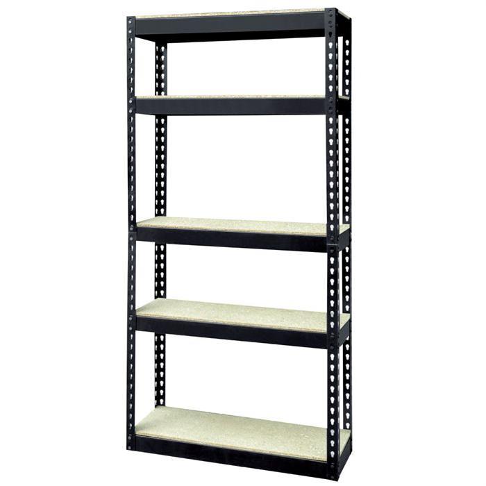 Etagère 5 niveaux bois/métal 180x80x40cm Achat / Vente etabli
