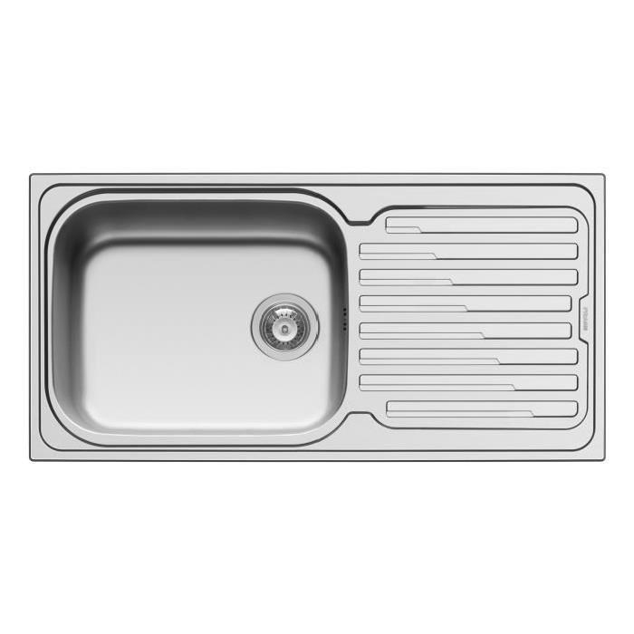 Evier Inox 1 grand bac 1 égouttoir Amaplus Achat / Vente évier
