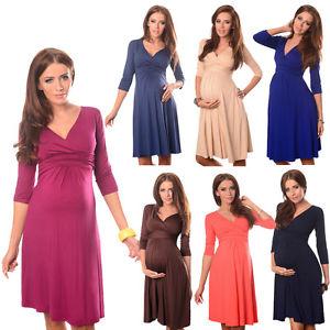 Magnifique robe de maternite vetements de grossesse Vneck taille 8 10