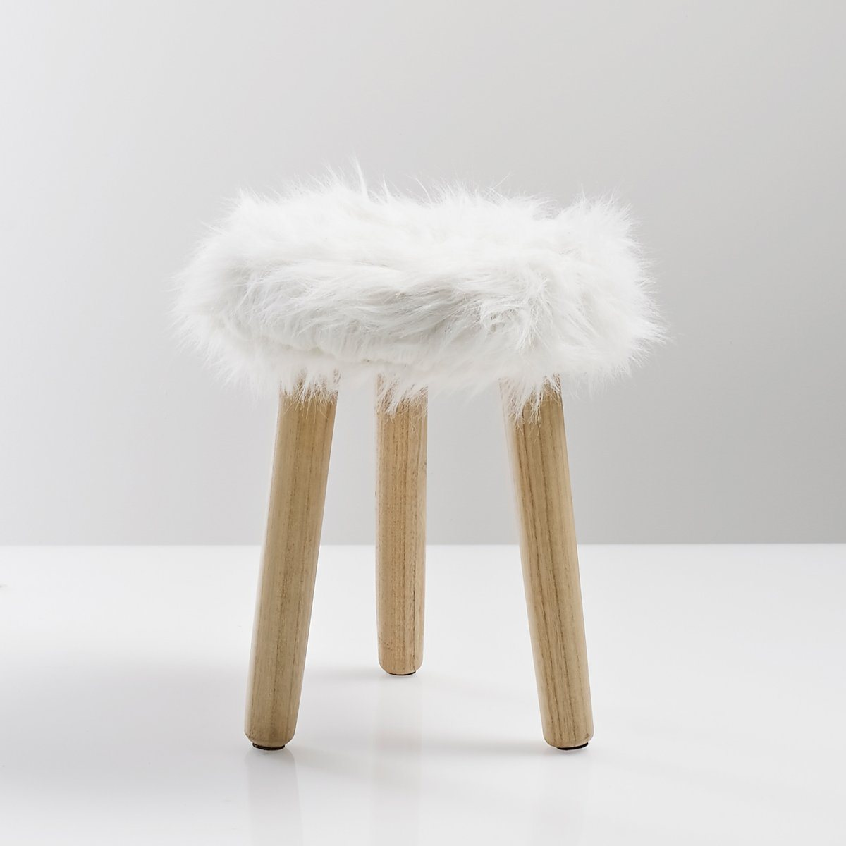 Tabouret, assise imitation fourrure adas Interieurs | La