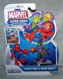 PLAYSKOOL HEROES MARVEL SUPER HEROES ADVENTURES SPIDER MAN amp GREEN
