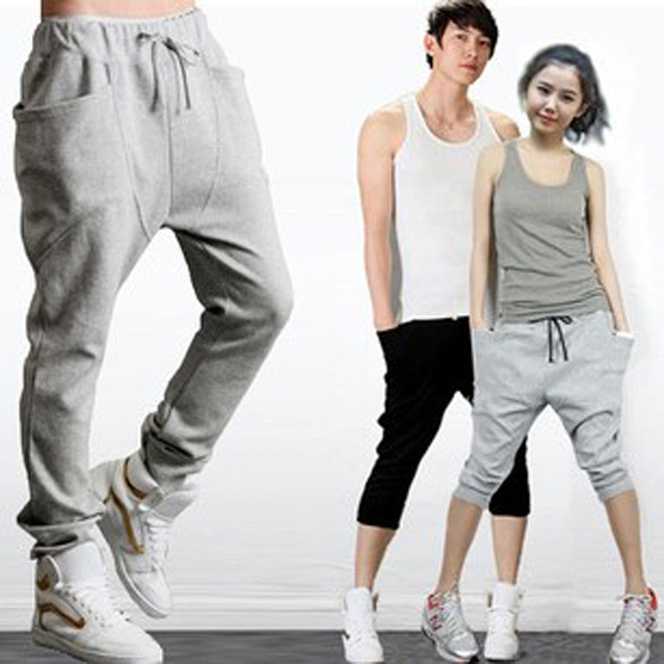 Neuf Casual Sports Femmes Hommes danse pantalons Baggy Jogging Sarouel