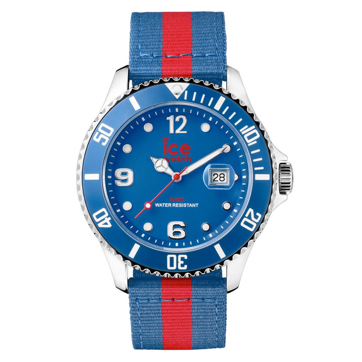 Montre ICE Polo Bleu Rouge BIG PO EBR B N 14
