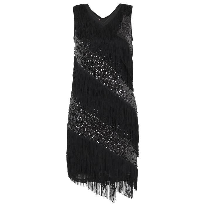 Magnifique robe pailletée type Gatsby, cette robe a
