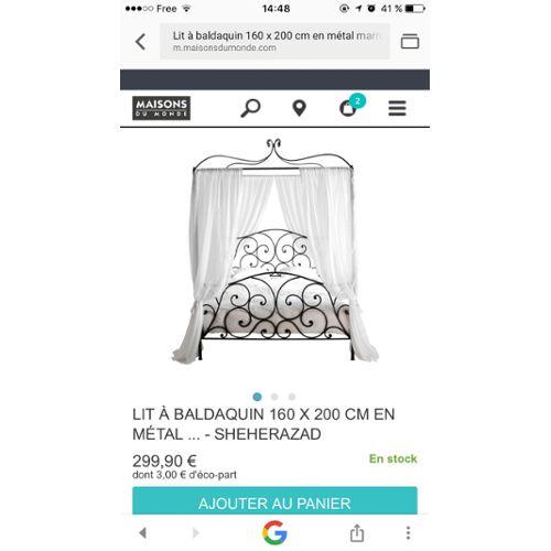Lit Baldaquin Sherazade Achat vente de Mobilier