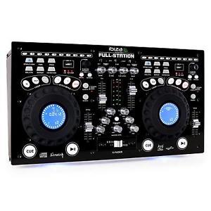 FULL STATION DOUBLE LECTEUR CD DJ PLATINE MIXAGE 2x USB 2x SD MP3 PRO