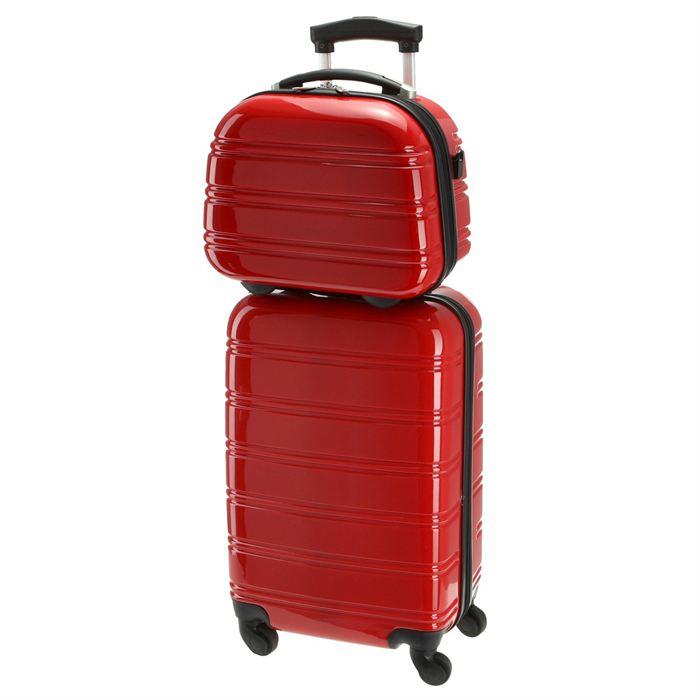 Set valise cabine + vanity Rouge Achat / Vente set de valises