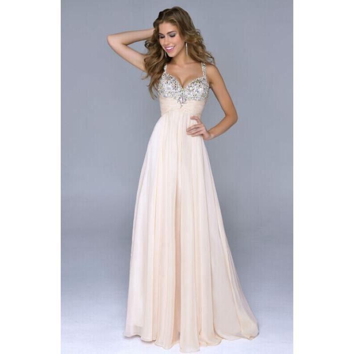 robes roses du soir chérie robes dos nu 2015 de mousseline de mariage