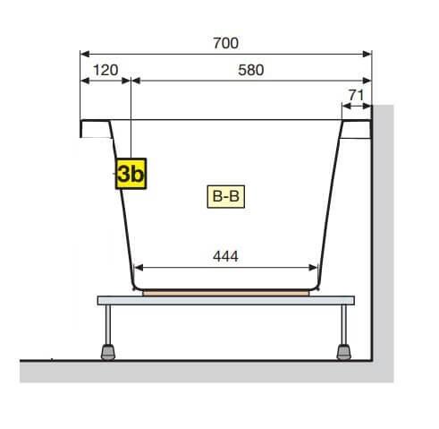 Baignoire Calos Rectangulaire Acrylique 160×70 Novellini