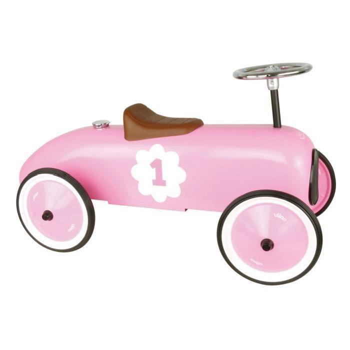 Porteur voiture Vintage rose aille Unique Coloris Unique Achat