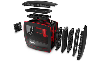 Boîtier PC NZXT Manta Windowed (noir / rouge) (MK850560692