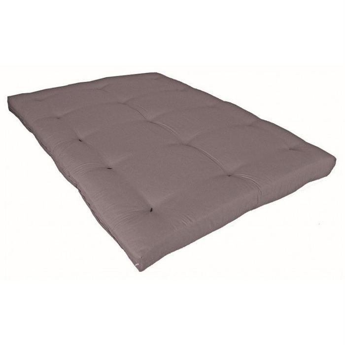 Matelas Futon Taupe en Coton 90×190 Achat / Vente futon