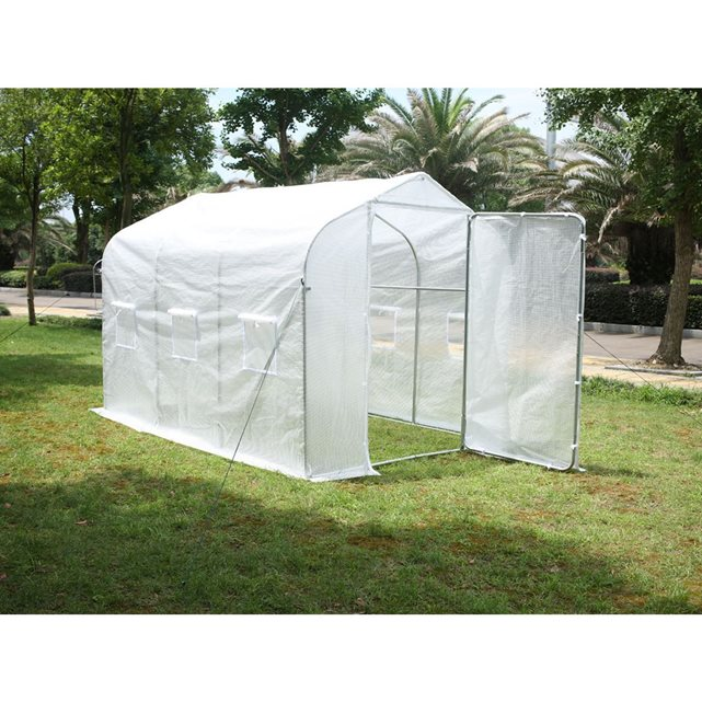 habitat et jardin Serre tunnel de jardin «Mimosa 2» blanc 6