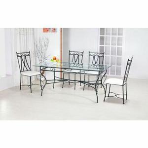 Table verre et fer forgé rectangulaire LANA Achat / Vente table a