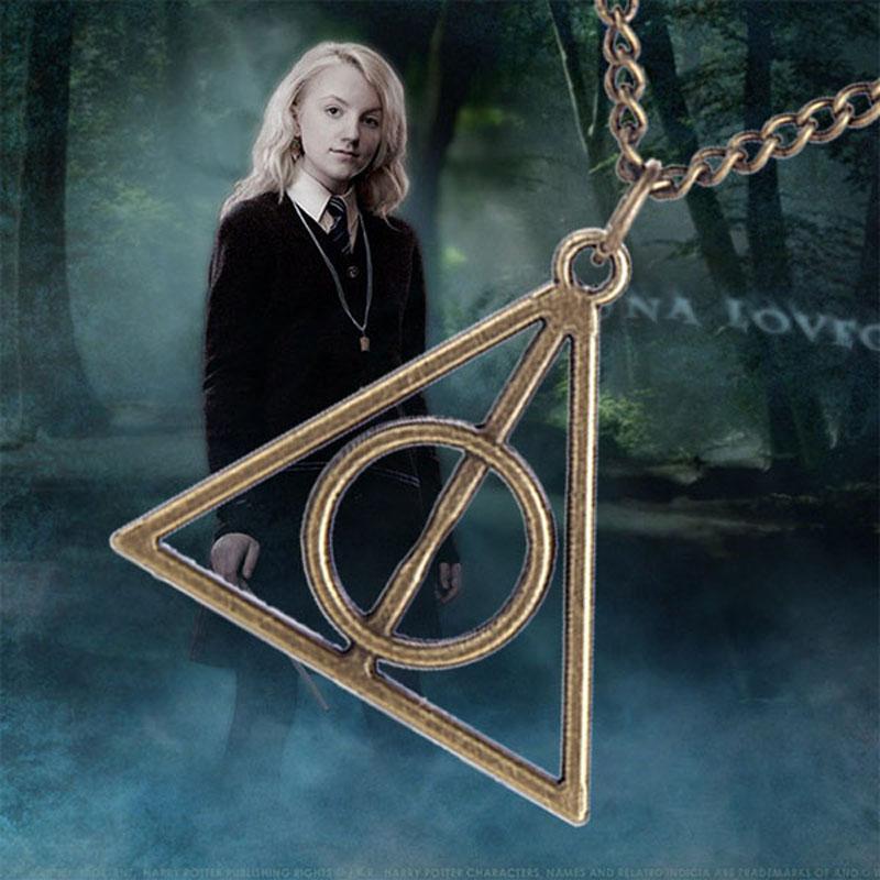1pc Collier Harry Potter Triangle Reliques Mort Chaîne