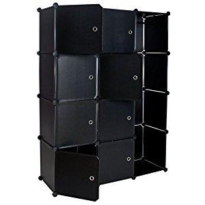 TecTake Armoire Penderie cabinet Cubes étagère de rangement