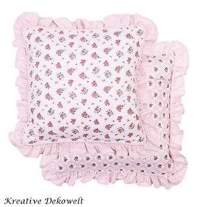 Eef Kissenhulle Lovely Rose Rosalie Landhaus 100 Baumwolle 40×40 cm
