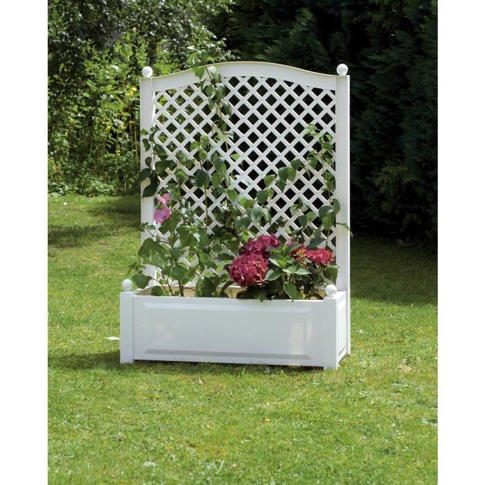 Jardinière avec treillis Achat / Vente jardinière pot fleur