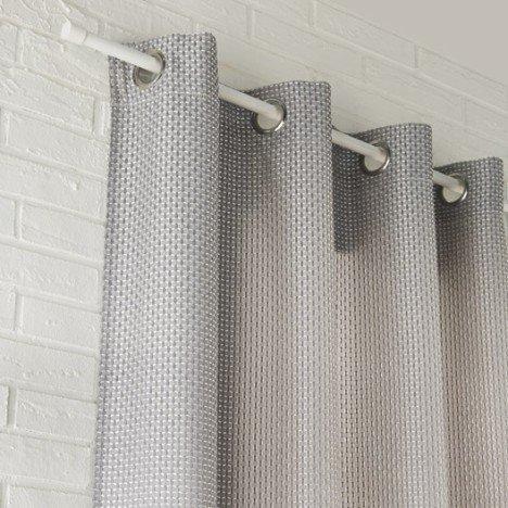 Rideau tamisant, Azurro, gris, l.140 x H.260 cm INSPIRE |