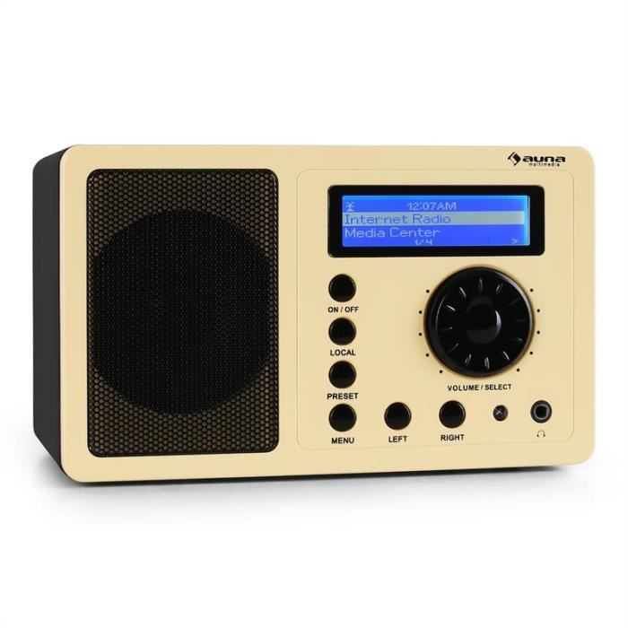 Auna IR 130 Radio internet W LAN streaming crème tuner radio, prix