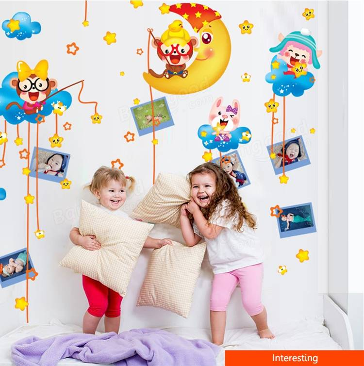 Enfants belle sticker mural salle de singe chambre decor enfants