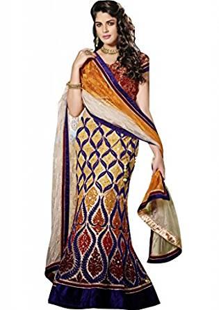 Csebazaar femmes Bollywood Designer brodé Lehenga Belle nuptiale