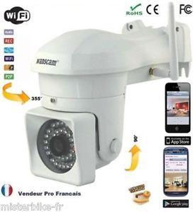 Caméra de Surveillance Extéieur IP IR WIFI HD SANS FIL DETECTEUR DE