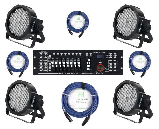 PROJECTEUR LED SPOT CONTROLEUR DE DMX MIXER CABLES SET DJ PA USB RGB