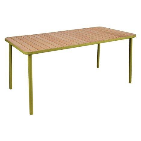Table de jardin Hata rectangulaire vert 8 personnes  