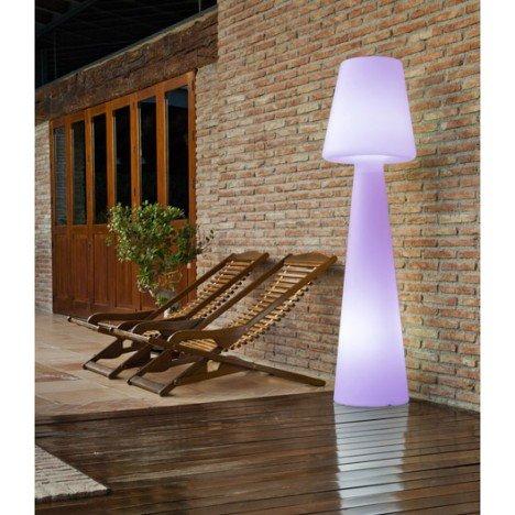 Lampadaire extérieur Lola 165 cm LED intégrée couleurs changeantes