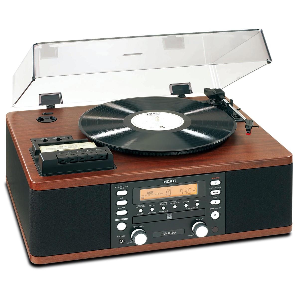 Teac LP R500 CH Platine Vinyle / Lecteur Radio Cassette / Graveur CD