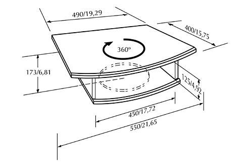 Accessoire pour support TV Vogel's PLATEAU BOIS TV+VCR (0052876)