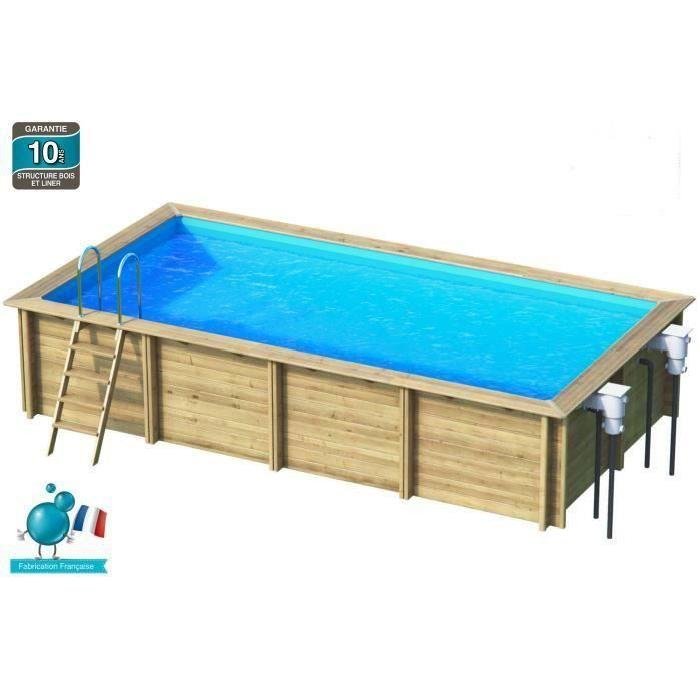 Piscine bois rectangulaire topiwall for Achat thermopompe piscine