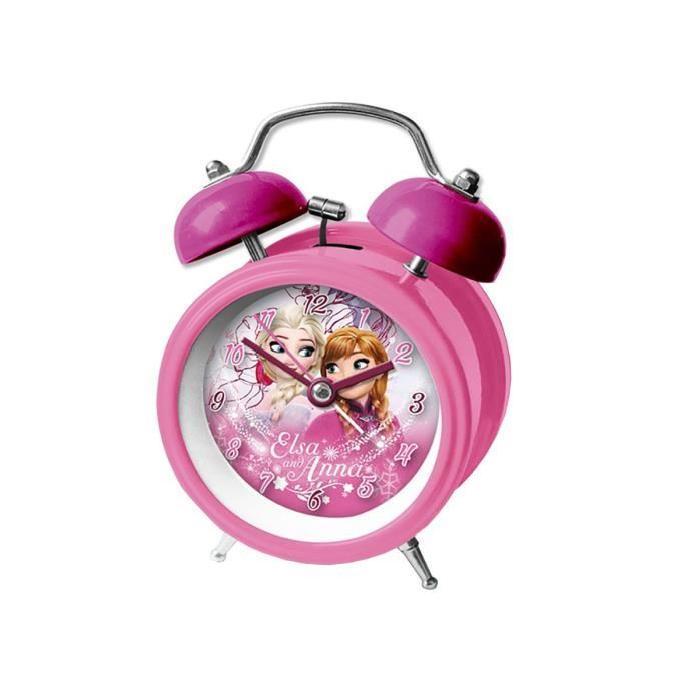 Réveil la Reine des Neiges 9 cm Rose Achat / Vente réveil enfant