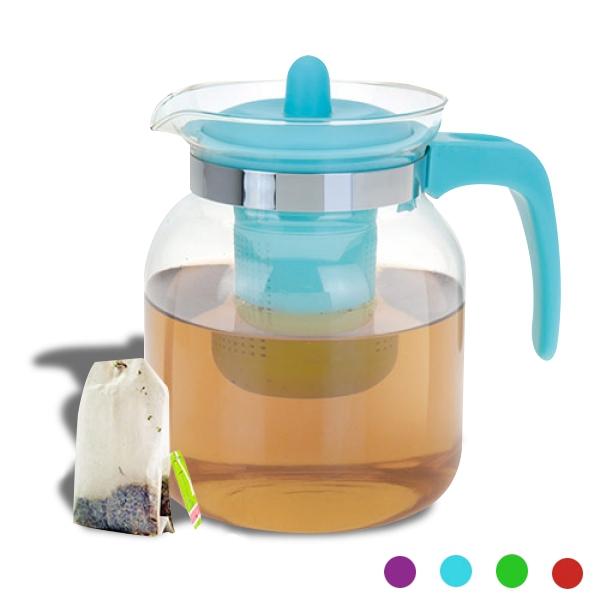 Théière avec filtre pour thé à infuser violet