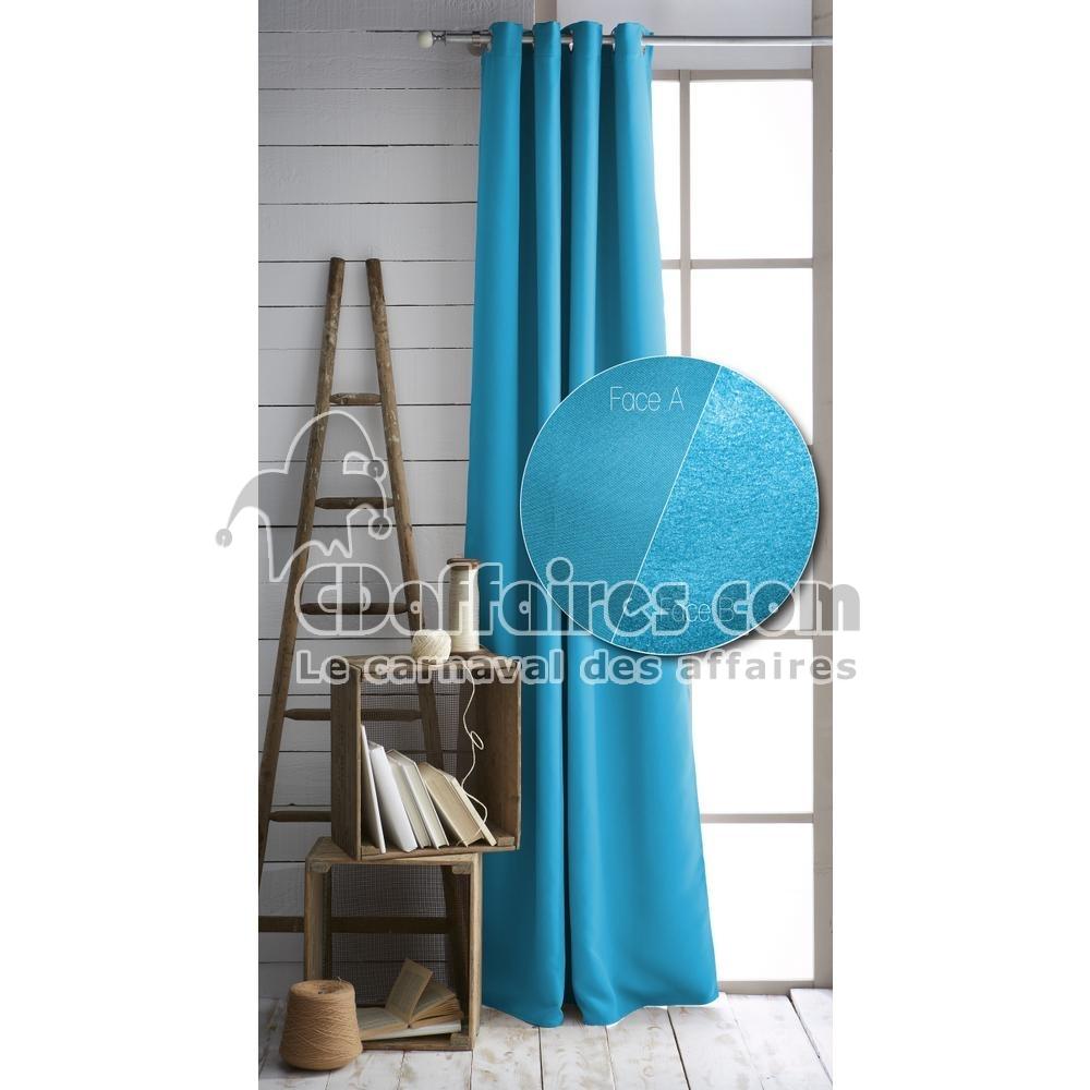 Rideau Thermique Occultant ET Isolant Sérénité Bleu Turquoise